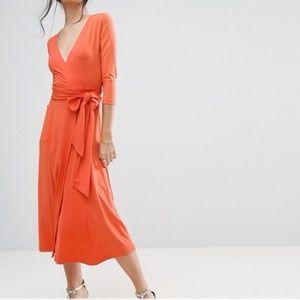 ASOS PETITE Wrap Maxi Dress in Crepe